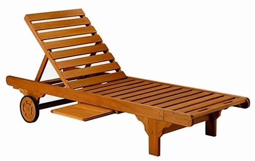 Brilliant Wooden Chaise Lounge Loungers Teak Patio Furniture Teak Inside Most Up To Date Outdoor Chaise Lounges (Gallery 15 of 15)