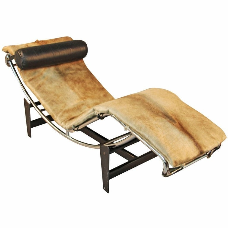 Brown Chaise Lounge Chair By Le Corbusier Inside Most Current Vintage Le Corbusier Lc4 Style Chaise Lounge At 1Stdibs (View 3 of 15)