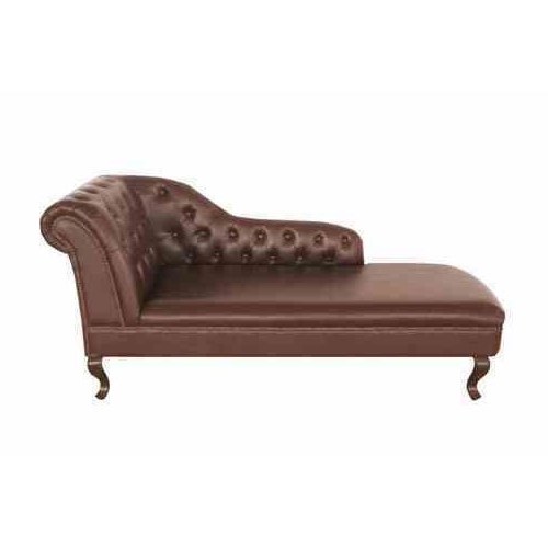Brown Leather Chaise Lounge At Rs 25000 /piece (View 5 of 15)