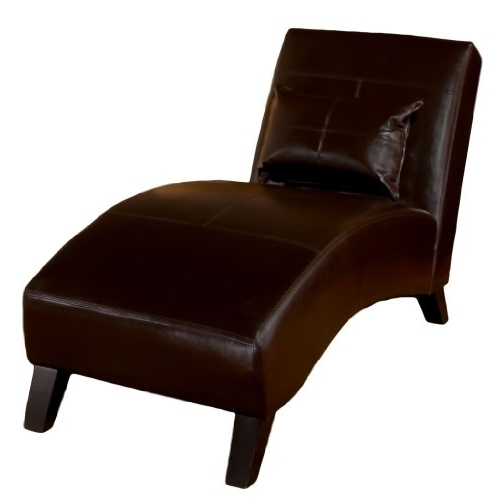 Brown Leather Chaise Lounges In Well Known Laguna Brown Leather Chaise Lounge – Furniturendecor (View 7 of 15)