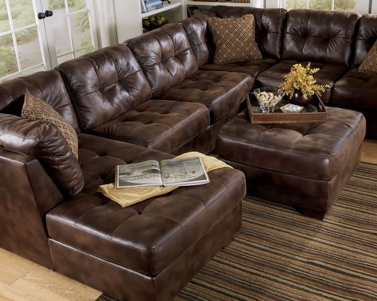 Brown Leather Sectionals With Chaise Throughout 2018 Sectional Sofa Design: Brown Leather Sectional Sofa Chaise (View 2 of 15)