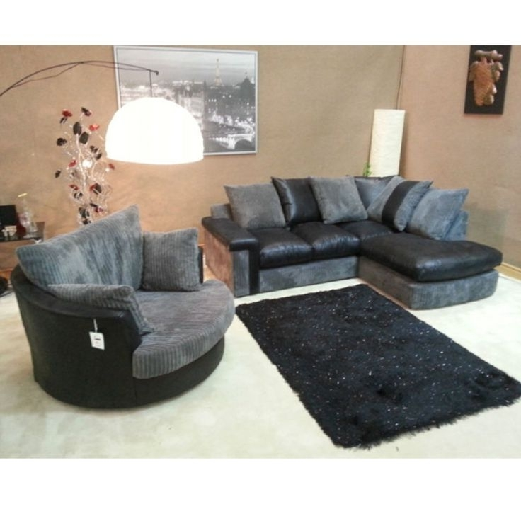 Brown Swivel Chair Corner Sofa And Club Bulay With Regard To Pertaining To Current Sofas With Swivel Chair (View 2 of 10)