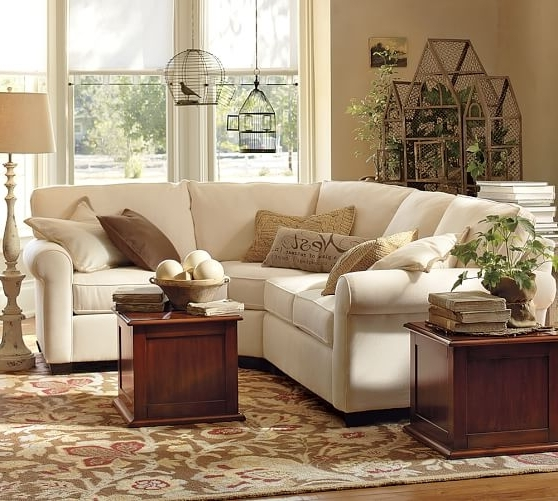 Buchanan Roll Arm Upholstered Curved 3 Piece Sectional With Wedge Regarding Well Known Pottery Barn Sectional Sofas (View 1 of 10)