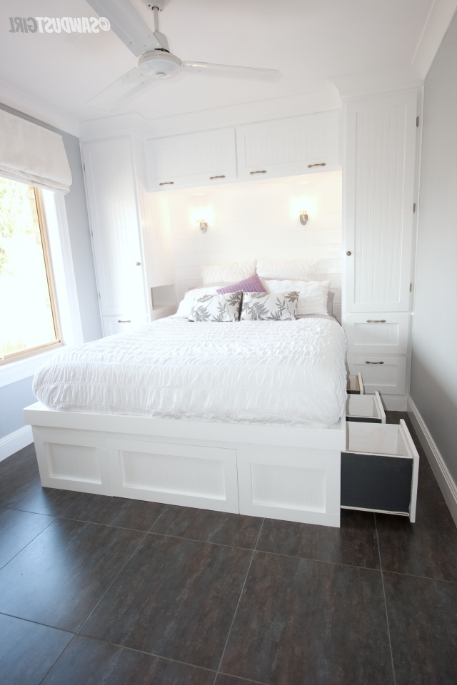 Built In Wardrobes And Platform Storage Bed – Kristy's Reveal Regarding Trendy Wardrobes Beds (View 4 of 15)