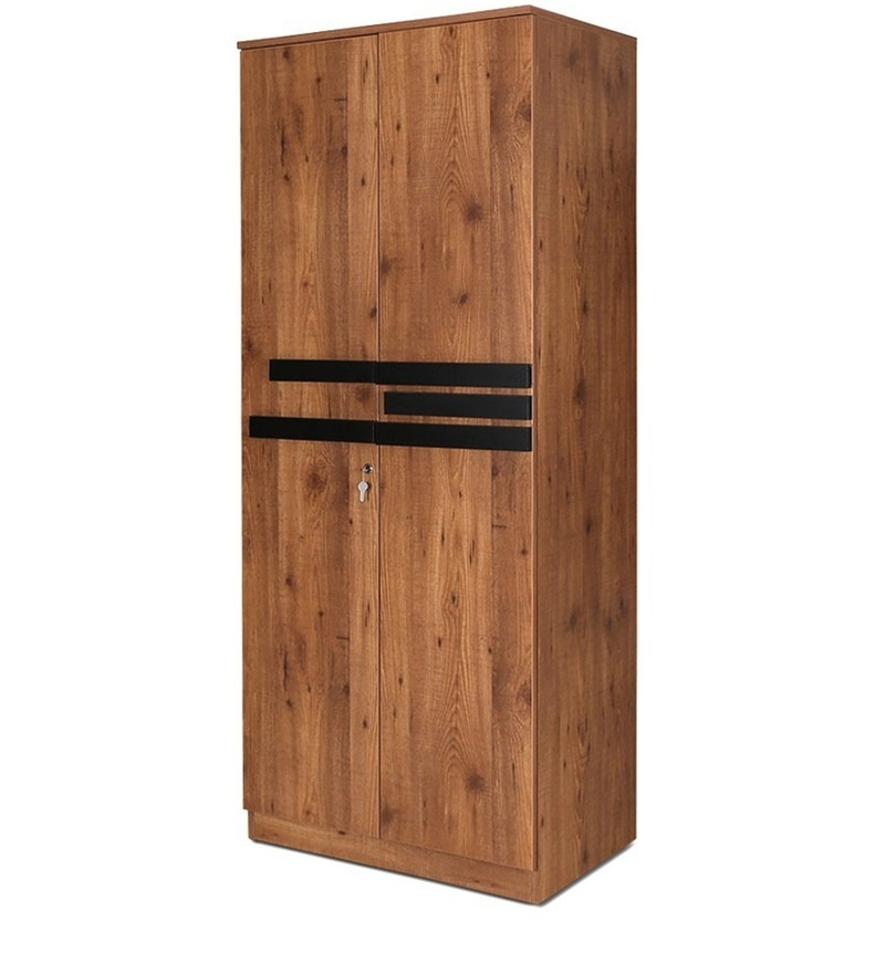Buy Grafton Two Door Wardrobe In Natural Pine & Black Finish With Regard To Recent Natural Pine Wardrobes (View 3 of 15)