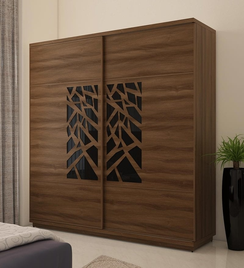 Buy Kosmo Autumn Wardrobe With 2 Sliding Doors In Walnut Bronze Throughout Famous Walnut Wardrobes (View 2 of 15)