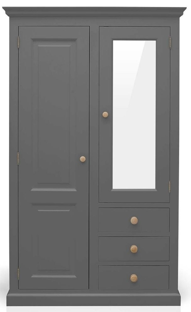 Buy Tfw Mottisfont Grey Wardrobe – Combination Online – Cfs Uk With Most Recent Grey Wardrobes (View 3 of 15)
