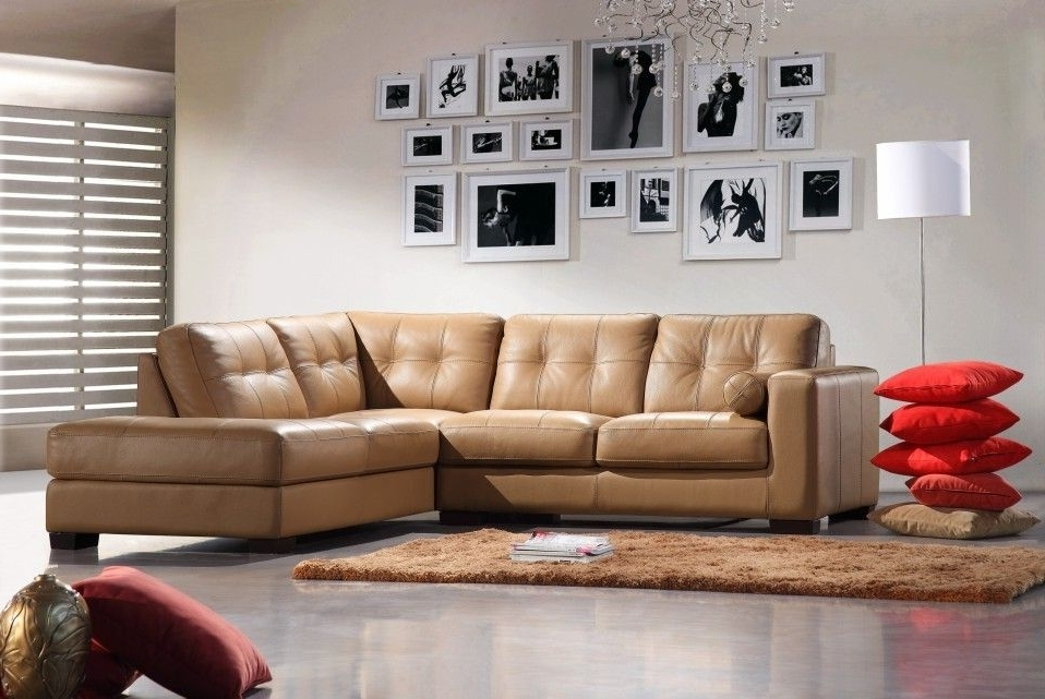 Camel Sectional Sofas For Best And Newest Bella Italia Leather 306 Sectional Sofa Camel (View 3 of 10)