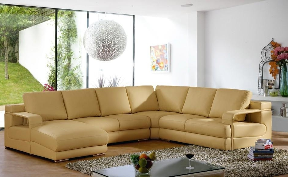 Camel Sectional Sofas Regarding Latest Magnificent Colored Leather Sofas Sofa Beds Design Popular Modern (View 5 of 10)