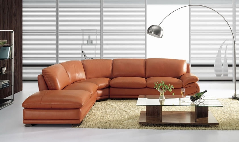 Camel Sectional Sofas With Well Known Bo 3920 Modern Camel Leather Sectional Sofa (View 6 of 10)