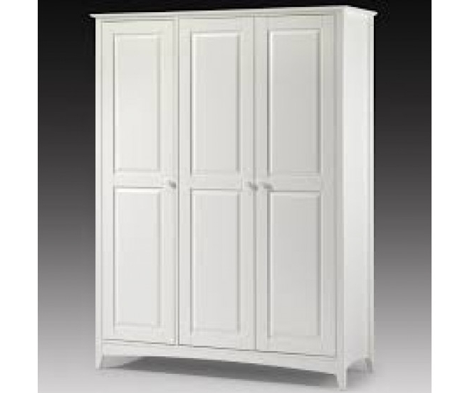 Cameo Stone White 3 Door Wardrobe With Regard To Favorite Julian Bowen Cameo Wardrobes (View 3 of 15)