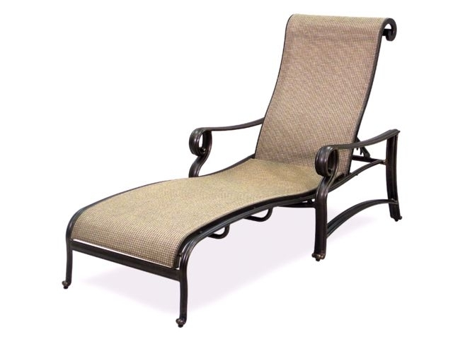 Carlsbad Sling Chaise Lounge – Fortunoff Backyard Store Intended For Best And Newest Chaise Lounge Sling Chairs (View 4 of 15)