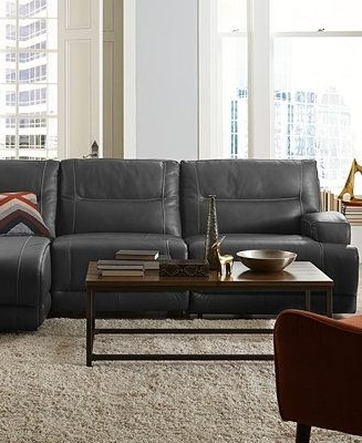 Caruso Leather Power Motion Sectional Sofa Living Room Furniture Regarding Popular Motion Sectional Sofas (View 3 of 10)