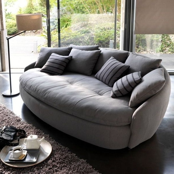 Chair Lounge Sofa Chair Curved Leather Sectional Round Leather Pertaining To Well Liked Round Sofas (View 2 of 10)
