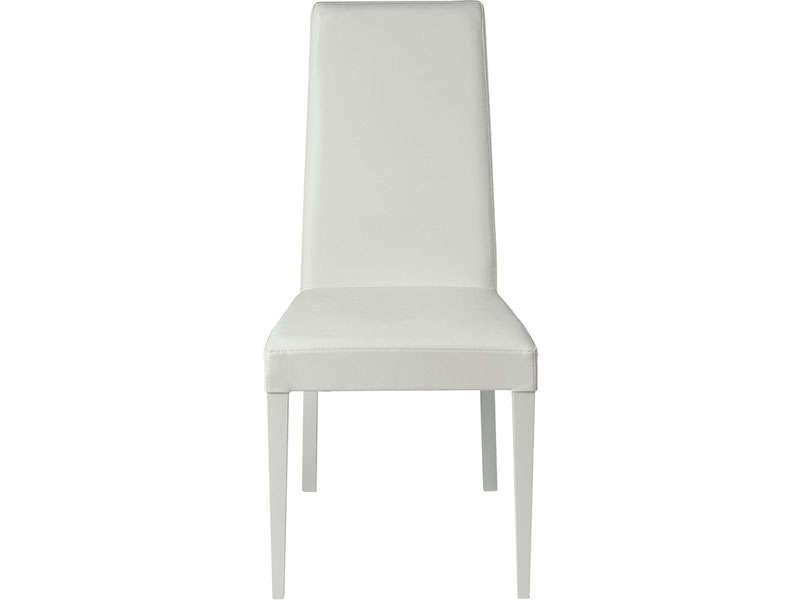 Chaise Avec Pieds Laqués Blanc Emily Coloris Blanc – Vente De Throughout Most Recent Emily Chaises (View 8 of 15)