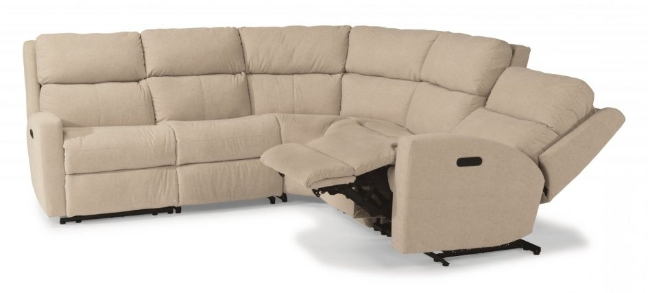 Chaise Couches Regarding Trendy Sectph Reclining Sectional With Chaise Couches And Sofas Flexsteel (View 6 of 15)