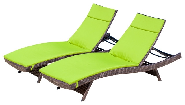 Chaise Cushions In Well Known Wonderful Lakeport Outdoor Adjustable Chaise Lounge Chairs W (View 4 of 15)