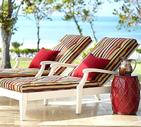Chaise Cushions Outdoor Outdoor Patio Cushions With Summer Style With Regard To Most Popular Boca Chaise Lounge Outdoor Chairs With Pillows (View 9 of 15)