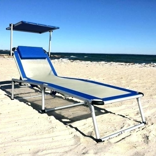 Chaise Lounge Beach Chair Portable Cheap Folding Chairs S Plans Within 2018 Chaise Lounge Beach Chairs (View 5 of 15)