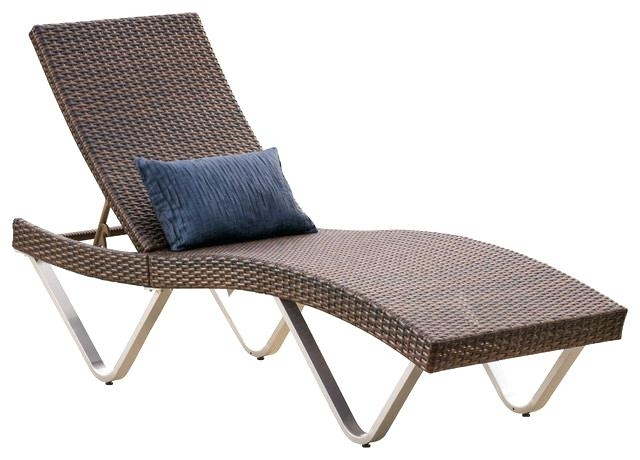 Chaise Lounge Chairs For Outdoors Pertaining To Trendy Single Chaise Lounge Chair Outdoor Single Wicker Chaise Lounge (View 7 of 15)