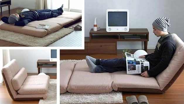 Chaise Lounge Chairs For Small Spaces Intended For Popular Tiny House Furniture – 9 Ideas For Small Homes / Cabins (View 3 of 15)