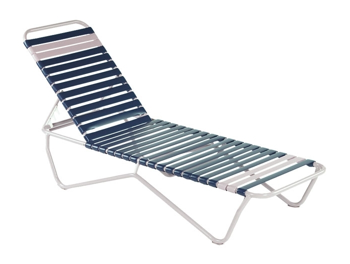 Chaise Lounge Chairs Made In Usa Within 2018 Commercial Furniture Usa – Premium Vinyl Strap Aluminum Pool (View 5 of 15)