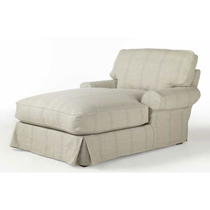 Featured Photo of Chaise Lounge Chairs With Arms Slipcover