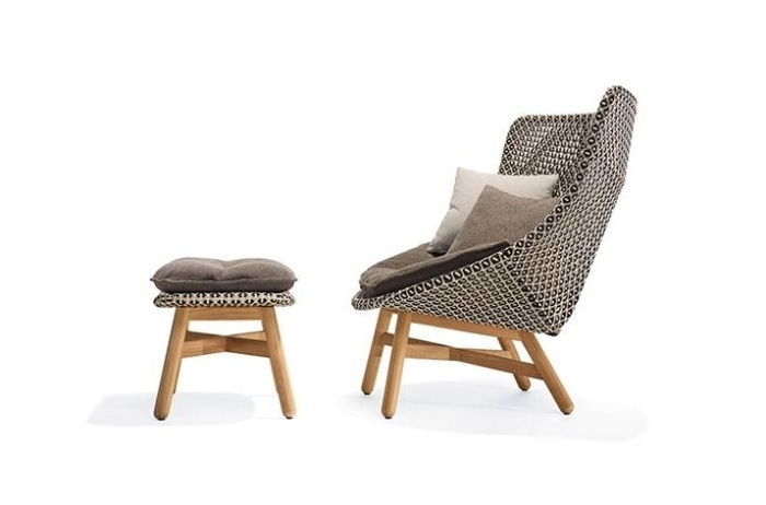 Chaise Lounge Chairs With Ottoman In Most Popular Brilliant Outdoor Lounge Chair Mbrace Modern Ottoman Dedon (View 4 of 15)