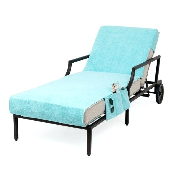 Chaise Lounge Green Authentic Cotton Aqua Green Towel Cover For Within Famous Green Resin Chaise Lounge Chairs (View 1 of 15)