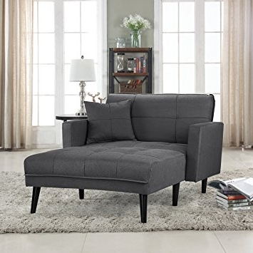 Chaise Lounge Recliners Pertaining To Best And Newest Amazon: Modern Linen Fabric Recliner Sleeper Chaise Lounge (Gallery 7 of 15)