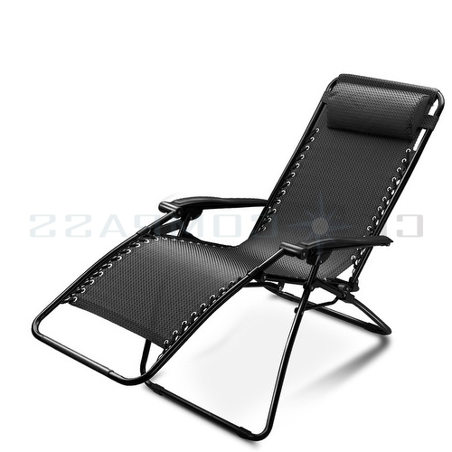 Chaise Lounge Reclining Chairs For Outdoor With Regard To Recent Attractive Reclining Lounge Chairs Patio Folding Zero Gravity (View 2 of 15)