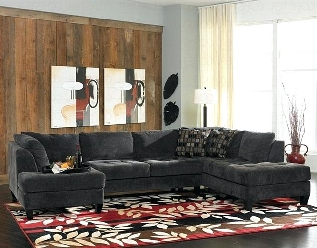 Chaise Lounge Sectionals Charcoal Gray Sectional Sofa Chaise For Well Known Charcoal Sectionals With Chaise (View 4 of 15)