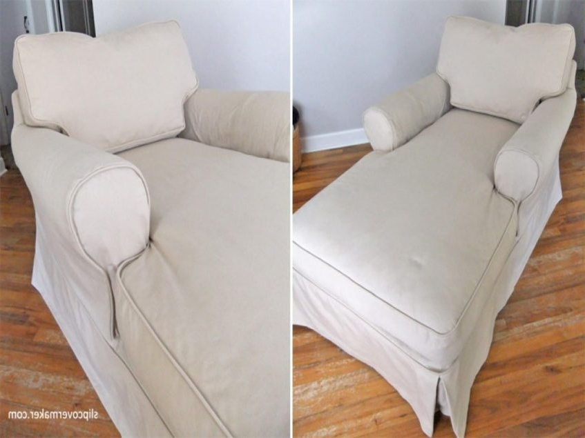 Chaise Lounge Slipcovers Pertaining To Well Liked Furniture Chaise Lounge Slipcover Luxury Slipcover Makeover For (View 6 of 15)