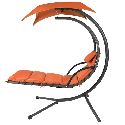 Chaise Lounge Swing Chairs In Most Recent Best Choice Products Hanging Chaise Lounger Chair Arc Stand Air (View 1 of 15)