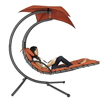 Chaise Lounge Swing Chairs Inside 2018 Amazon: Best Choice Products Hanging Chaise Lounger Chair Arc (View 2 of 15)