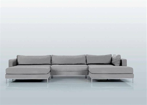 Chaise Sectional Sofas With Most Recent Beautiful Double Chaise Lounge Sofa Ahlmeda Double Chaise (View 4 of 15)