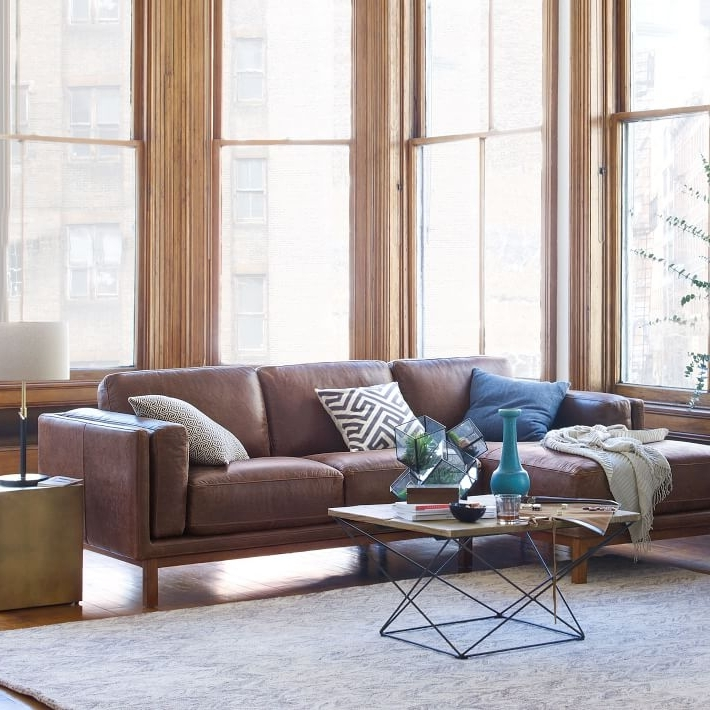 Chaise Sectional Sofas Within Well Known Dekalb Leather 2 Piece Chaise Sectional (View 6 of 15)
