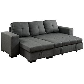 Chaise Sleepers Inside Widely Used Amazon: Us Pride Furniture Kachy Fabric Convertible Sleeper (View 2 of 15)