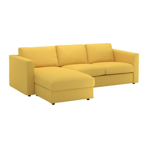 Chaise Sofas Throughout Latest Vimle Sofa – With Chaise/orrsta Golden Yellow – Ikea (View 11 of 15)