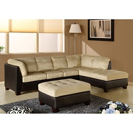 Charlotte Sectional Sofas In Well Known Amazon: Charlotte Sectional Sofa And Ottoman In Beige (View 2 of 10)
