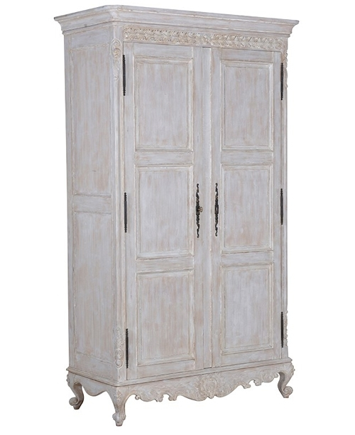 Chateau Whitewashed French Wardrobe Armoire – Buy From The French Throughout Widely Used Armoire French Wardrobes (View 5 of 15)