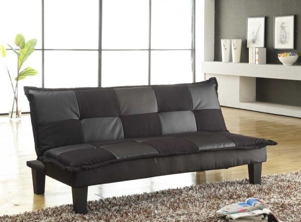 Cheap Black Sofas Throughout Recent Sofas: Elan Black Sofa Bed, Baja Convert A Couch And Sofa Bed (View 3 of 10)