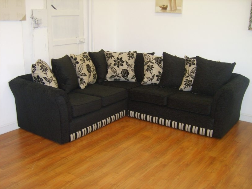 Charmant Cheap Black Sofas With Widely Used Sofa (View 4 Of 10)