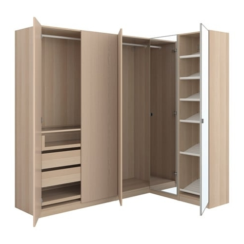 Cheap Corner Wardrobes With Regard To Trendy Pax Corner Wardrobe – 160/188X201 Cm – Ikea (View 3 of 15)
