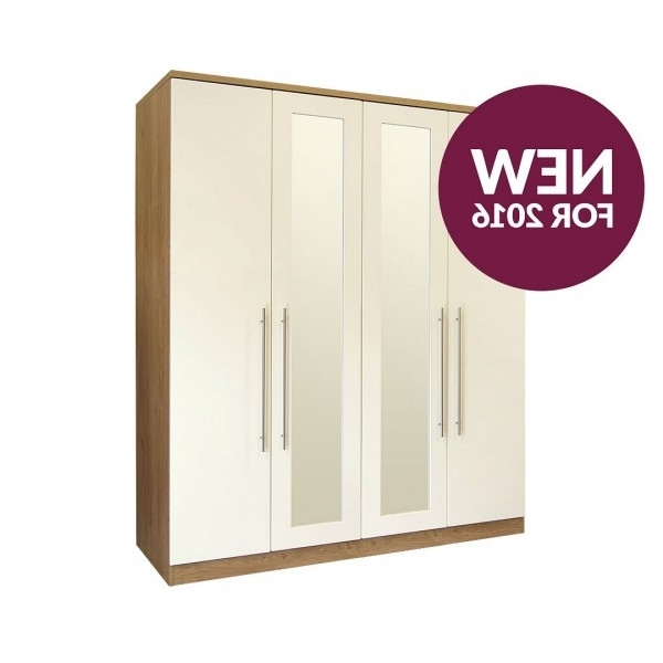Cheap Gfw Keswick High Gloss Wardrobe For Sale Online At Cheapest With Regard To Most Popular Cheap Black Wardrobes (View 4 of 15)