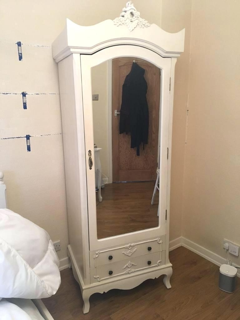 Cheap Shabby Chic Wardrobes Intended For Most Recently Released Wardrobes ~ Belgravia Shabby Chic White Single Wardrobe Shabby (View 4 of 15)