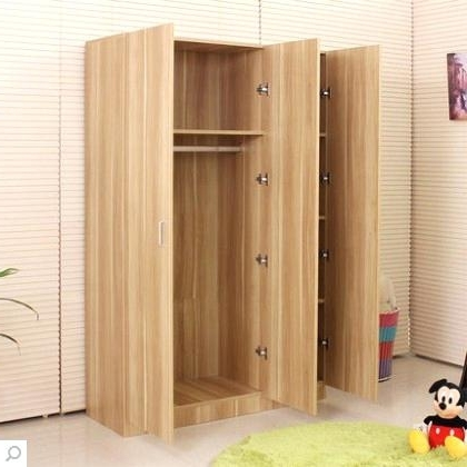 Cheap Wood Wardrobes Regarding 2017 Beautiful Solid Wood Wardrobe Closet Home Furniture Wood Wardrobe (View 5 of 15)