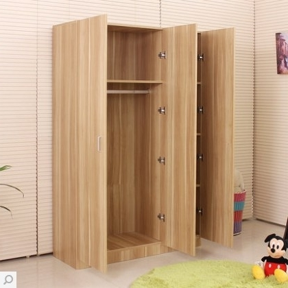 Cheap Wooden Wardrobes Inside Popular Buy Plate Simple Ikea Wardrobe Closet Solid Wood Composition (View 4 of 15)
