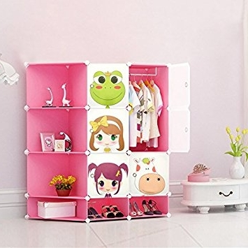 Childrens Pink Wardrobes Inside Latest New Kids Wardrobe Childrens Storage Cabinet Boxes Character Design (View 7 of 15)
