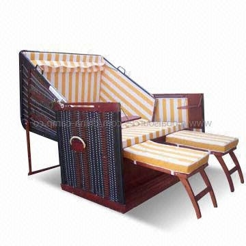 China Beach Sun Chaise Lounge With 11Mm Pvc Rattan And Adjustable Regarding 2017 Beach Chaise Lounges (View 8 of 15)